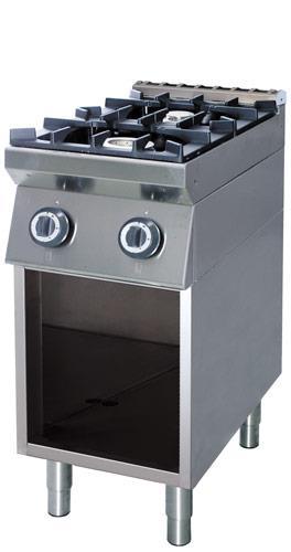Cucina Professionale 2 Fuochi Gas 3 5 8 Kw Emmepi E702an Ristotecno Sas