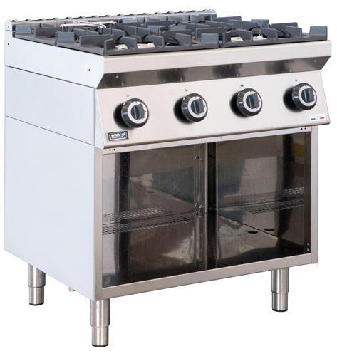 Cucina Professionale 4 Fuochi Gas 3 5 4 5 8 Kw Emmepi E704an Ristotecno Sas