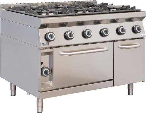 Cucina Professionale Con Forno A Gas 6 Fuochi Gas 3 5 4 5 8 Kw Emmepi E906fb 9 Ristotecno Sas