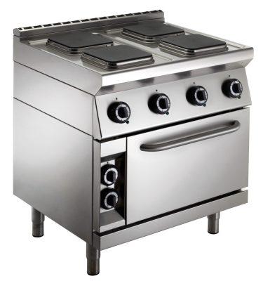 cucina-professionale-piastre-quadrate-forno-emmepi-e704efn